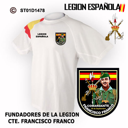 Camiseta 100 años Fundador Francisco Franco